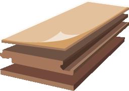 Структура ламината Ламинели
